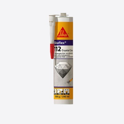 Sika 112 Crystal Clear Transparent Adhesive 290ml