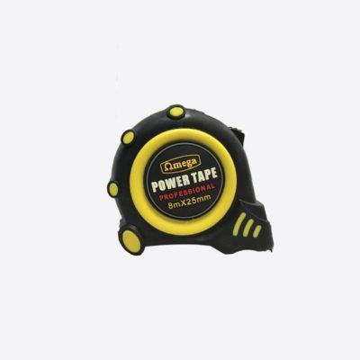 Omega Tape Measure Rubber Magnetic 8mx25mm