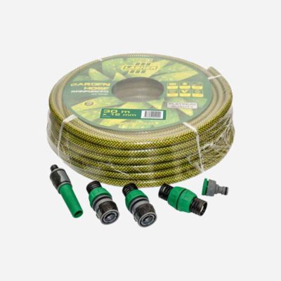 Lasher Hose Pipe 12mm X 30m With Fittings Platinum | Fg07002
